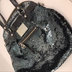Coach Limited Edition Poppy Sequin Leather Purse